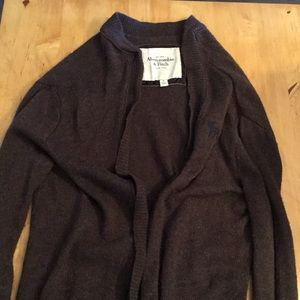 Abercrombie and Fitch Long brown cardigan! Size M